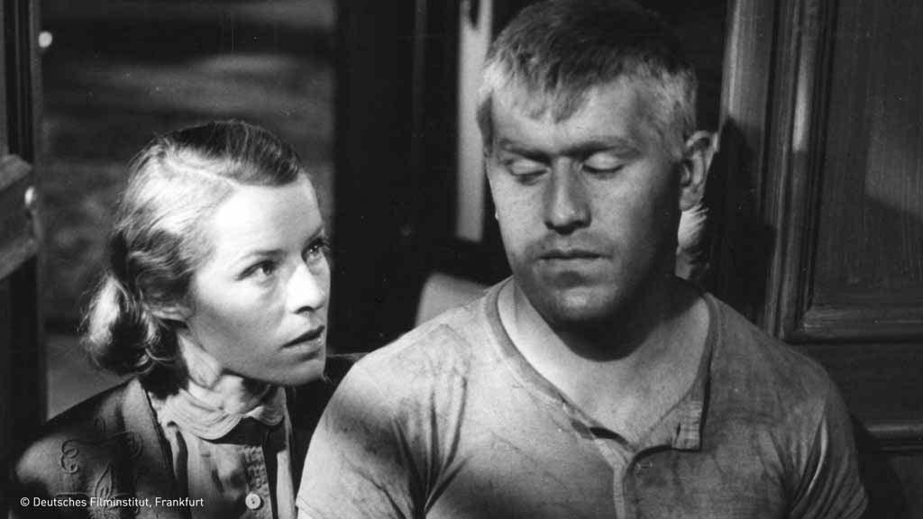 """""""Nachts, wenn der Teufel kam"""" BRD 1957 Margaret Jahnen, Mario Adorf"""