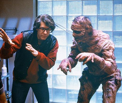 David Cronenberg und Jeff Goldblum bei den Dreharbeiten zu «The Fly»