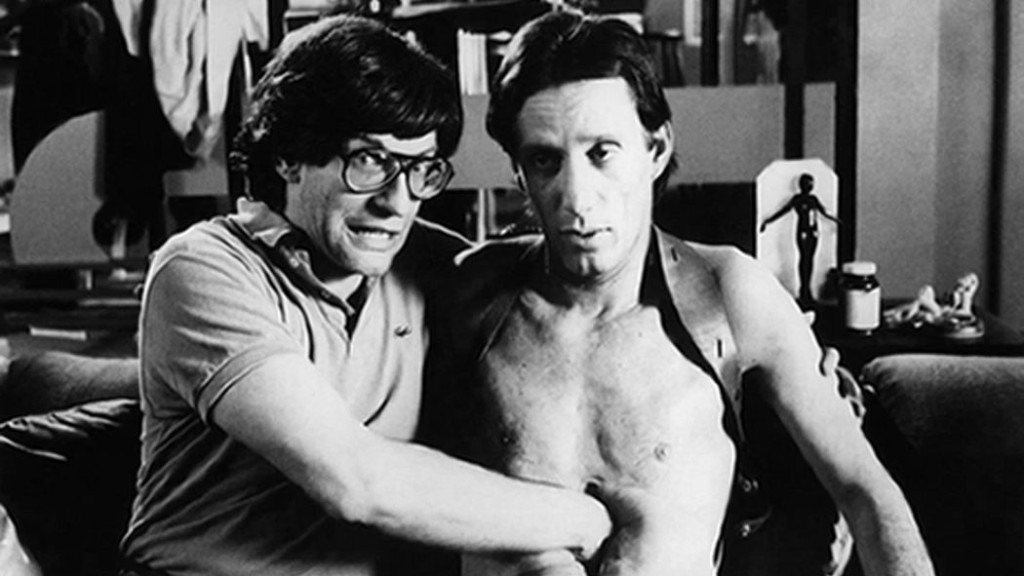 David Cronenberg und James Woods am Set von «Videodrome»