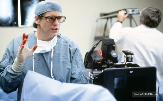 Regisseur David Cronenberg am Set von «The Fly» (1986)