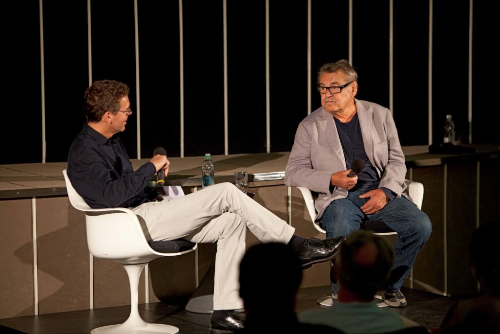 Miloš Forman im Gespräch mit Andreas Furler (Fotos: Peter Hunkeler)